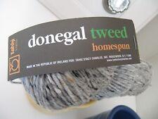 Tahki Donegal Tweed Homespun 100g color soft grays number 8884
