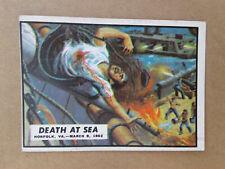 1962 Civil War News Cards  # 7    DEATH AT SEA        No Creases