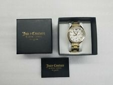 JUICY COUTURE MULTI-FUNCTION GOLD-TONE ST.STEEL LADIES WATCH 1901479 NEW DISPLAY