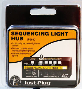 WOODLAND SCENICS SEQUENCING LIGHT HUB FOR JUST PLUG LIGHTING SYSTEM WDS5680 NEW