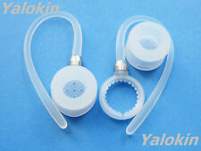 New Set 2 White Earclips and 2 Earbuds for Motorola Hx600 Boom Bluetooths
