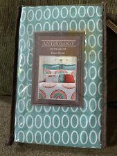 Anthology Bungalow Euro Pillow Sham Aqua Teal Quilt - Several Avail. New