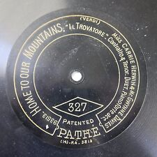 """12"""" 78rpm PATHE 327 CARRIE HERWIN & GWYNNE DAVIES the sailor sighs / home to our"""