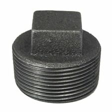 1 1/2 INCH SQUARE HEAD PLUG BLACK IRON PIPE FITTING THREADED PLUMBING - P6790