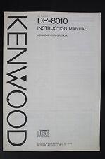 Kenwood dp-8010 ORIGINAL Reproductor de CD INSTRUCCIONES DE EMPLEO/OPERATING