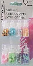 Sassy & Chic 8 PC Nail Art Shapes Heart Star Flower Design Decorate Brand New