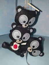 "Disney Parks Brave ""Harris Hubert Hamish"" Plush Holiday Ornament New Bears"