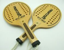 Marcraft PT-60 Racquetball Paddle Wooden Straps Grips Set Of 2