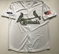 St Louis CARDINALS Baseball Jersey Stadium Give Away Size XL White Camouflage