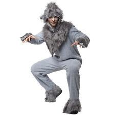 Unisex Kostüm Wolf Tier Overall Kleid Hirsch Karneval Fasching Fasnacht Kapuze