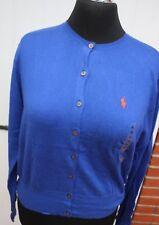 Strickjacke -  Gr. L 42 - 44 - Ralph Lauren - blau - Neuware