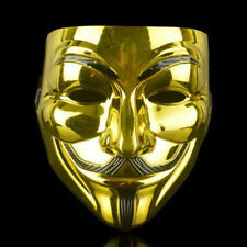 V for Vendetta Halloween Face Masks Cosplay Hacker Anonymous Party Fancy Mask E