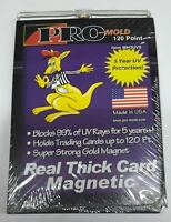 (5-Pack) Pro-Mold Magnetic Trading Card Holders 120 pt Thick Patches Size