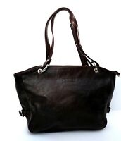 TEXIER Quality French  Genuine Leather Tote Chestnut Brown Grab Shoulder Bag