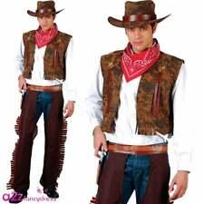 Mens Wild Western Gunslinger Rodeo Cowboy Outfit Fancy Dress Costume Medium
