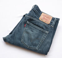 Levis 514 Slim Straight Jeans mens Bottoms size W31 L32 S Small blue ZIP FLY
