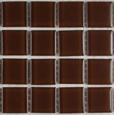 pièces de PATRON cristal marron mosaïque verre carreau env. 10,5 x 10,5 x 0,4 cm