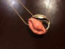 Sea Treasure Convertible Pendant And Pin Jewelry Box Sleeve Coral Flower Avon