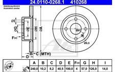 ATE Juego de 2 discos freno 240mm Para OPEL VAUX TIGRA CORSA 24.0110-0268.1