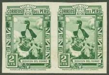 Peru 1937 Cormorants and Guano 2c imperf pair