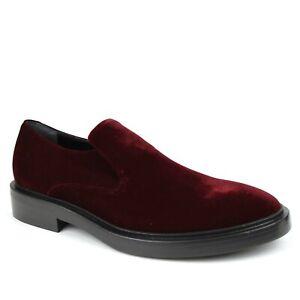 $665 Balenciaga Men's Burgundy Velvet Slip-on Loafer Dress Shoe 40 458660 6306