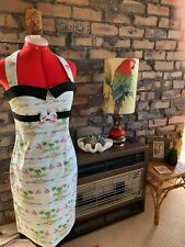 Rockabilly Tiki style dress size 12