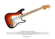 Ritchie Blackmore's 1971 Machine Head Stratocaster ART POSTER A3 size