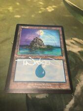 1x Signed Guru Island Mtg Magic Rare Terese Nielsen Autograph