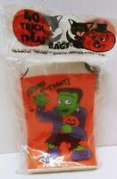 VINTAGE 1981 NIB TRICK OR TREAT BAGS PAPER 40 CT FRANKENSTEIN