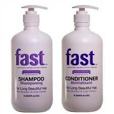 NISIM FAST SHAMPOO & CONDITIONER 1 LITRE TO GROW HAIR FASTER SULFATE FREE