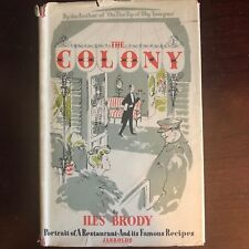 RARE-Iles Brody The Colony: Portrait of a Restaurant and Its Famous Recipes-1946