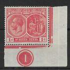 ST KITTS-NEVIS SG38 1921 KGV 1d rose-carmine MINT MH