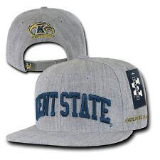 Gray Kent State University KSU Golden Flashes NCAA Flat Snapback Baseball Hat
