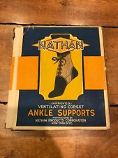 Nathan Ventilating Corset Ankle Supporter In Original Box Vintage Rare