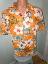 Ocean & Coast Men's Tropical Beach Shirt  Orange Short Sleeves Size Medium