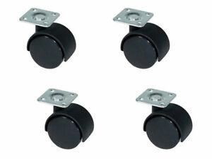 4 rotelle ricambio mobili tavoli poltrona trasporto ruote girevoli 360 da 50mm