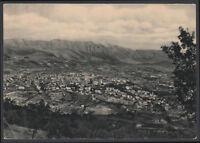 cartolina L'AQUILA panorama e catena del gran sasso d'italia