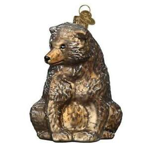 Old World Christmas VINTAGE BEAR (51013)N Glass Ornament w/ OWC Box