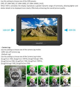 H7S 7'' 1800 Nits Brightness 4K On-Camera Field Monitor 1800 cd/m2 7500K Monitor
