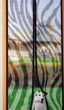 Insektenvorhang mit Magneten Zebra Fliegenschutz Insektenschutz  210x99cm Neu
