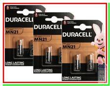 6 Pile per Telecomando Cancello Auto Allarme DURACELL MN21 23A LRV08 Batterie