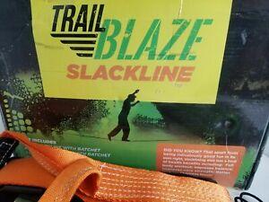 Trail Blaze Slackline Kit, 49FT, full body workout, sharpens focus, good fun!