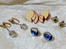 Costume Earrings lot of Four pair two clip on and two screw on Vintage