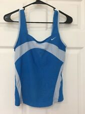 Nike Womens Small Blue Sleeveless Athletic Top w/ Self Bra S