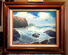 ROUGH SURF ON THE CALIFORNIA COAST,  by Richard R. Nervig
