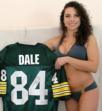 """CARROLL DALE signed jersey Green Bay Packers """"Super Bowl 1 & 2"""" Inscription"""