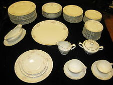 "63pc.JAPAN CHINA SET""GOLD STANDARD ""GENUINE PORCELAIN WITH PLATINUM TRIM-ELEGANT"