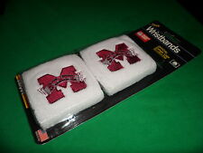 Cotton MISSISSIPPI STATE Licensed NCAA College Team Logo Wristbands By UNIQUE