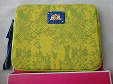 JUICY COUTURE PYTHON SNAKE IPAD/TABLET WRISLET NEOPRENE YELLOW DIAMOND NWT $52