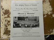 Vintage Program - Moments of Meditation at Mt. Moriah Baptist Church - 2/8/1970